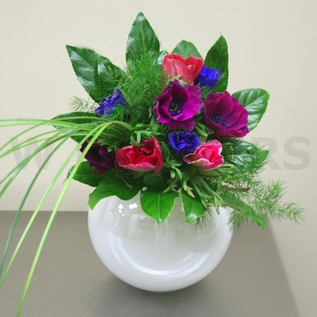 W Flowers product: Anemones Centerpiece