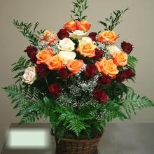 W Flowers product category: Beautiful Roses in a basket