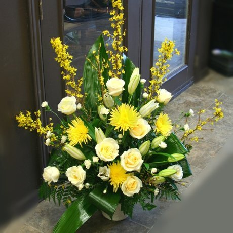 W Flowers product: Blessings Large White and Yellow Arrangement