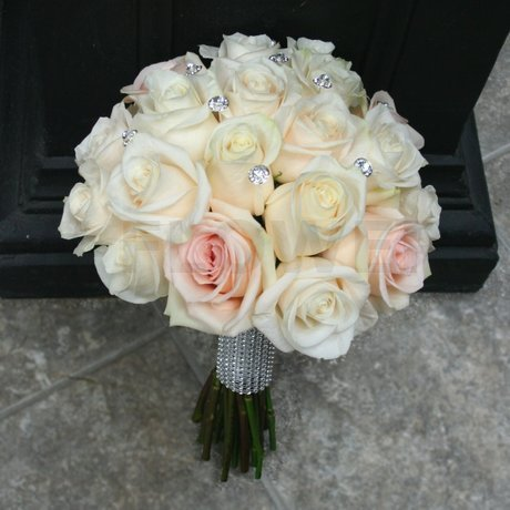 W Flowers product: Bling Wedding Bridal Bouquet with Roses