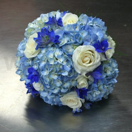 W Flowers product: Blue and White Wedding Bouquet