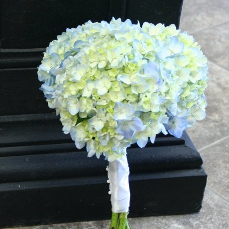 W Flowers product: Blue Hydrangea Bridesmaid Bouquet