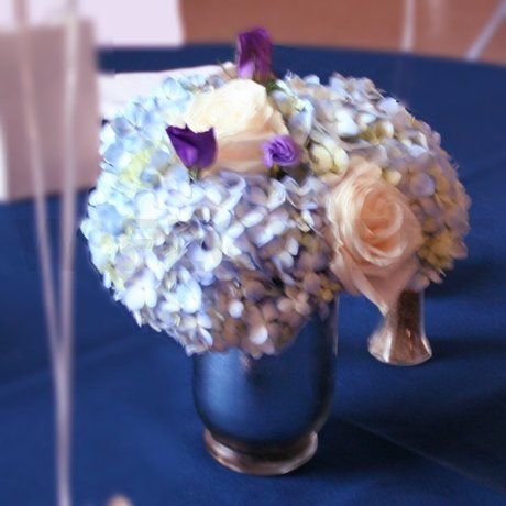 W Flowers product: Blue hydrangea centerpiece
