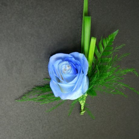 W Flowers product: Blue Rose Boutonniere for Prom