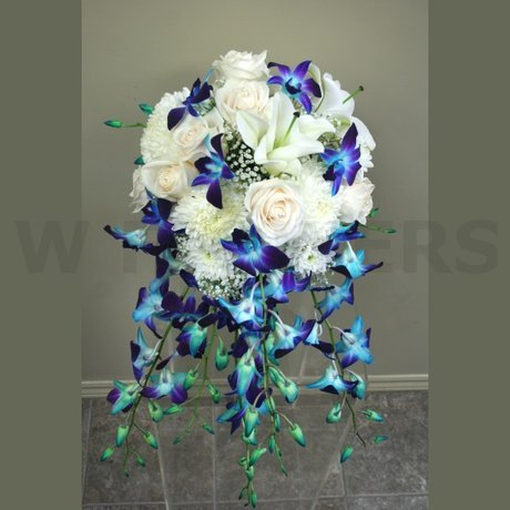 W Flowers product: Blue Wedding Bouquet