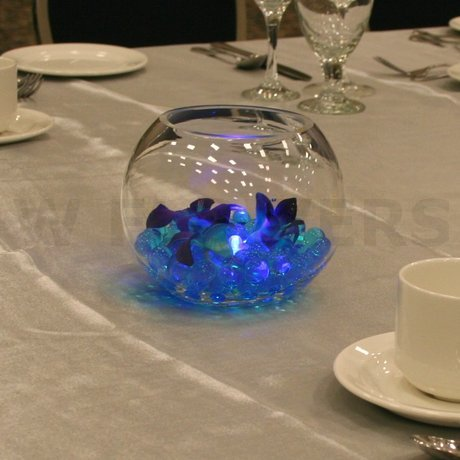 W Flowers product: Blue wedding centerpiece