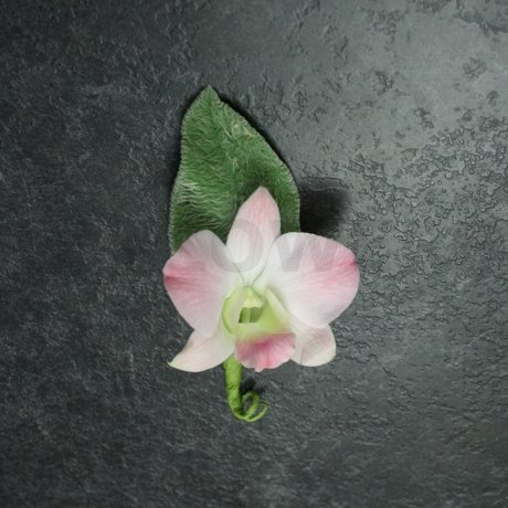 W Flowers product: Blush and grey wedding boutonniere