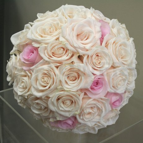 W Flowers product: Blush and Ivory wedding bouquet