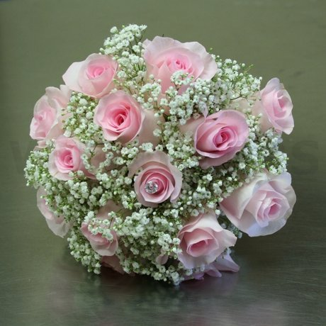 W Flowers product: blush roses bridal bouquet