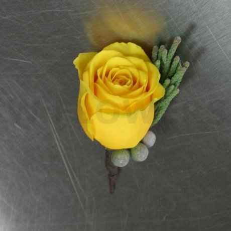 W Flowers product: Boutonniere in grey and yellow