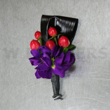 Flower Delivery Ottawa on Boutonniere Purple With Red Berries   W Flowers Ottawa