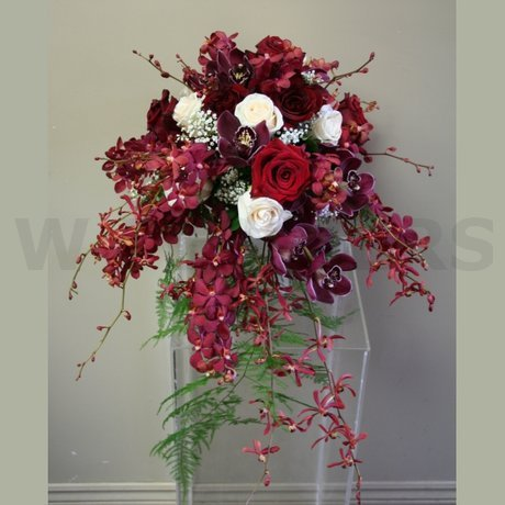 W Flowers product: Bridal Bouquet in Burgundy