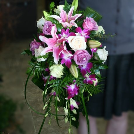 W Flowers product: Bridal Bouquet in Fuchsia and Purple