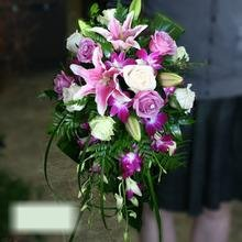 W Flowers product category: Bridal Bouquet in Fuchsia and Purple
