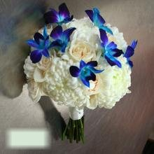W Flowers product category: Bridal Bouquet with Blue Orchids