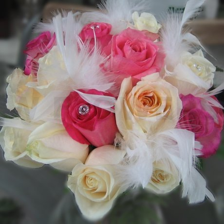 W Flowers product: Bridal Bouquet with Feathers