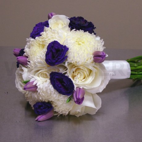 W Flowers product: Bridal Bouquet with Purple