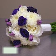 W Flowers product category: Bridal Bouquet with Purple