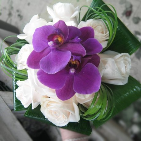 W Flowers product: Bridal Bouquet with Purple Orchids