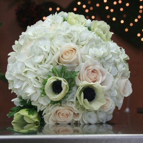 W Flowers product: Bridal Bouquet with White Anemones