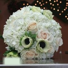 W Flowers product category: Bridal Bouquet with White Anemones