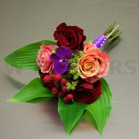W Flowers product: Bridesmaid Bouquet with Fuchsia Orchid
