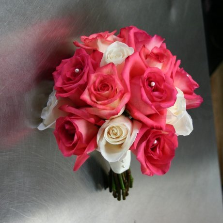W Flowers product: Bright roses bridal bouquet