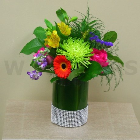 W Flowers product: Bright Wedding Centerpiece with sparkle