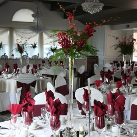 W Flowers product: Burgundy Centerpiece
