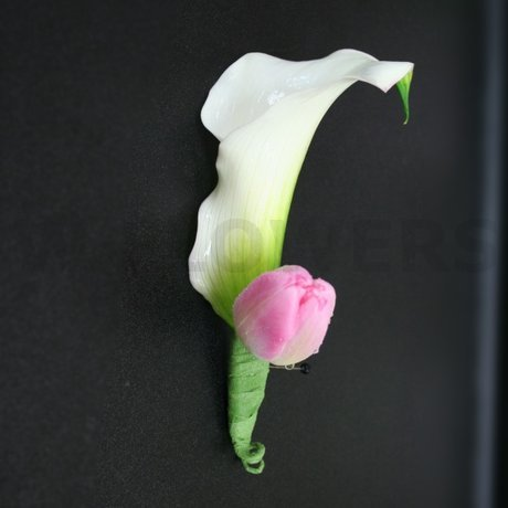 W Flowers product: Calla and Tulip Boutonniere
