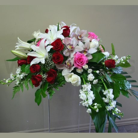 W Flowers product: Casket Adornment Bouquet