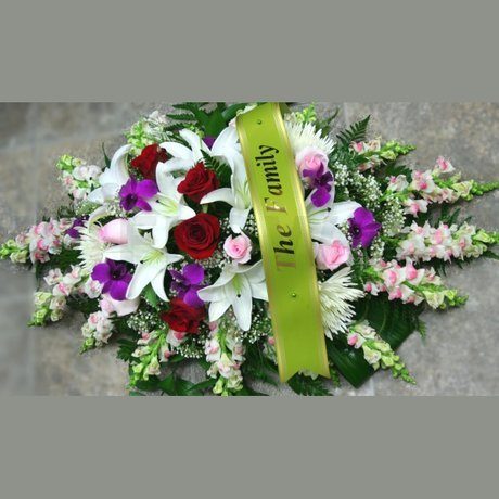 W Flowers product: Casket Spray All Around