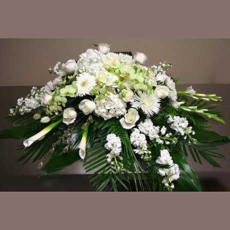 W Flowers product: Casket Spray Flowers in High Style