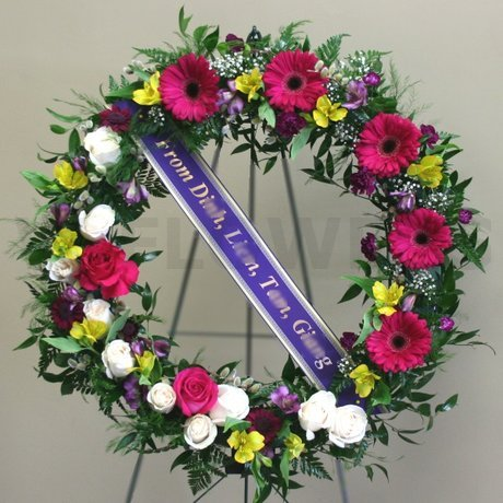 W Flowers product: Celebration of Life Funeral Wreath