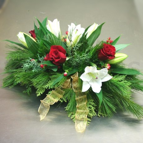 W Flowers product: Christmas Centerpiece with Lilies