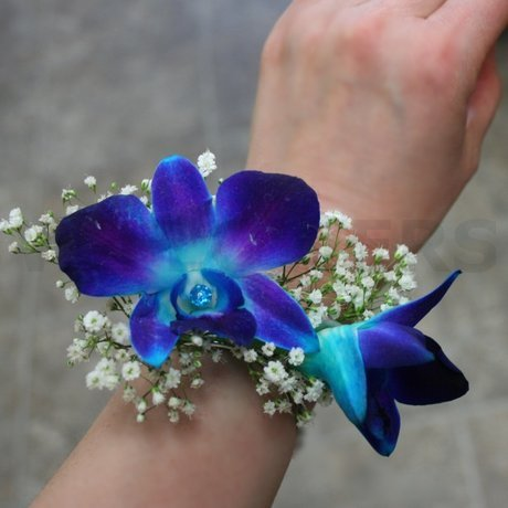 W Flowers product: Corsage with Blue Orchids
