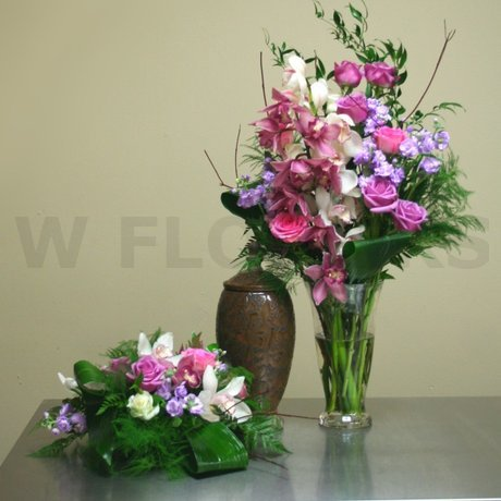 W Flowers product: Cremation Urn Funeral Flowers
