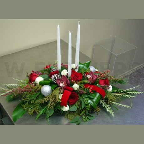 W Flowers product: Designer Christmas Centerpiece