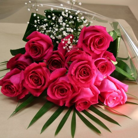 W Flowers product: Dozen Hot Pink Roses