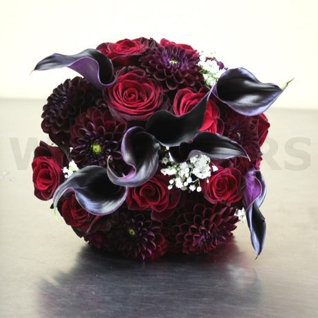 W Flowers product: Eggplant Wedding Bouquet