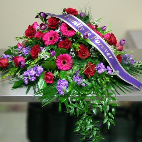 W Flowers product: Elegance Casket Spray