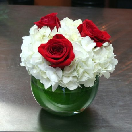W Flowers product: Elegant Red and White