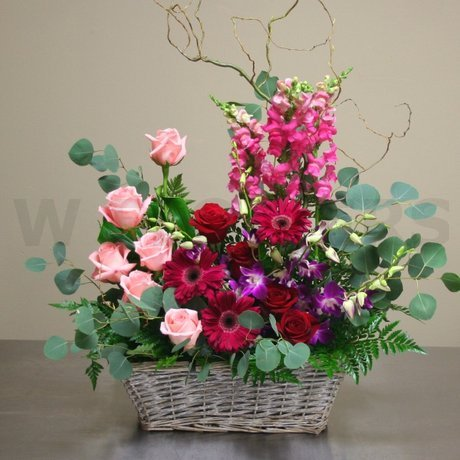 W Flowers product: Euro Garden Funeral Basket
