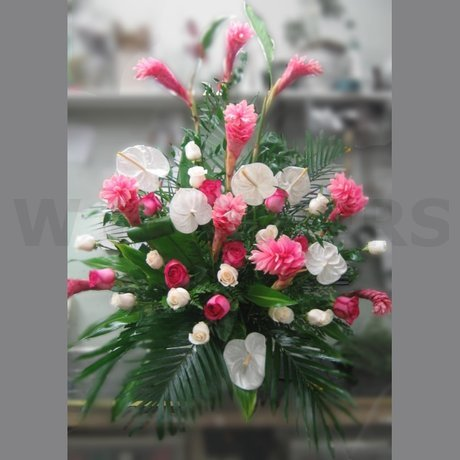 W Flowers product: Exotic Arrangement for Altar