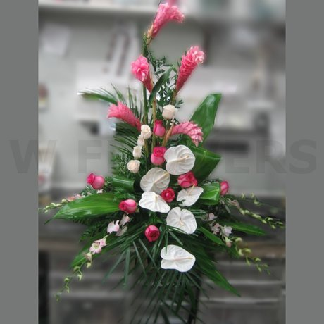 W Flowers product: Exotic Arrangement for Reception or Ceremony