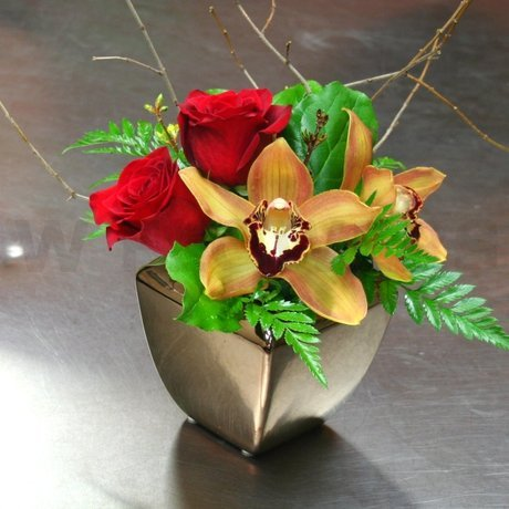 W Flowers product: Fall Centerpiece with Cymbidium