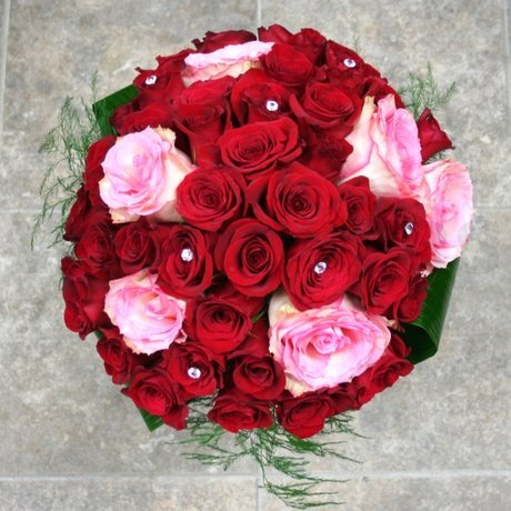 W Flowers product: Fifty Roses European Hand Tied