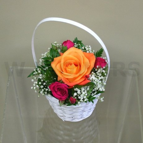 W Flowers product: Flower Girl Basket Multicolor
