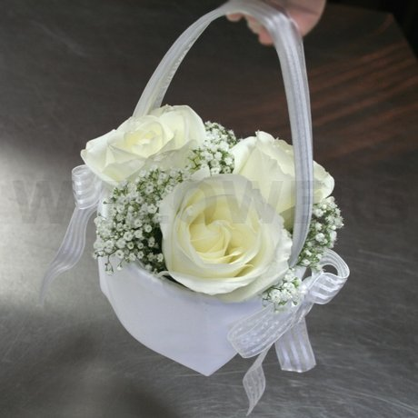W Flowers product: Flower Girl Basket with Roses