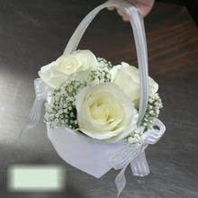 W Flowers product category: Flower Girl Basket with Roses